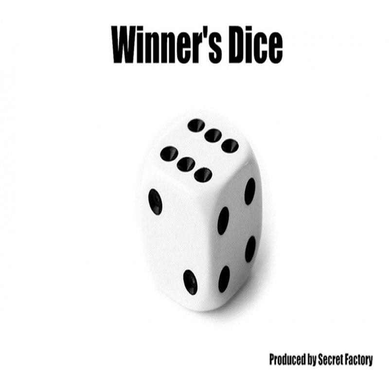Winner's Dice By Secret Factory,Mentalism Magic,Close Up,Street Magic,Fun,Party Trick,Illusion,Gimmick,Magic Trick