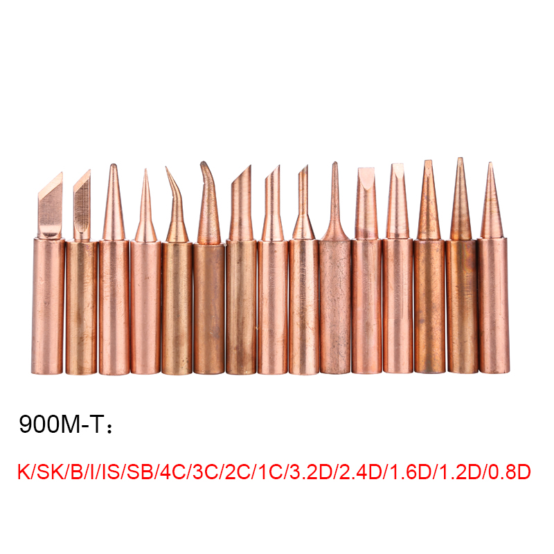900M-T Series Pure Copper Soldering Iron Tip Lead-free Welding Head For 936 937 Soldering BGA Rework Tools