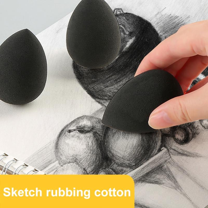 Sketch Rubbing Sponge Drawing Water Drop Sponge Ball Brush Special Sketch Paper Wipe Water Uptake Sponge Art Supplies