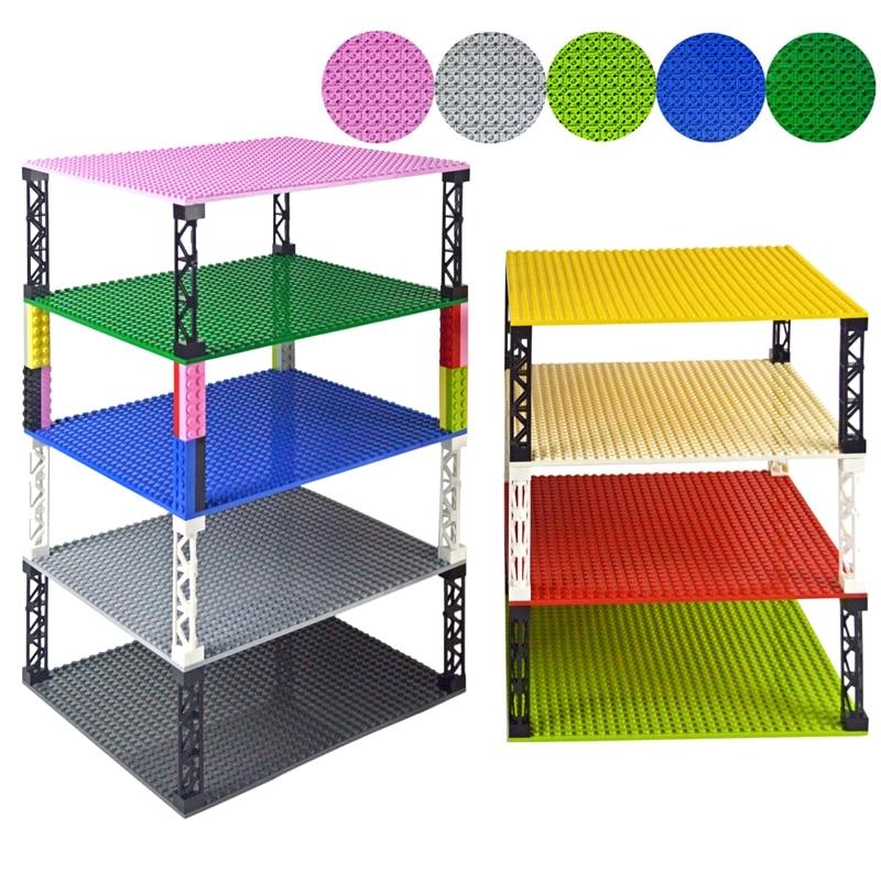 Строительные блоки 32*32 точки двусторонние базовые плиты кирпичи «сделай сам» цветные колонны Базовая пластина совместимы со всеми брендам...