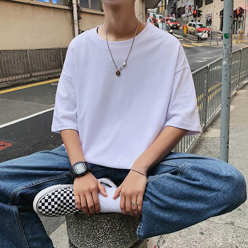 Legible camisetas masculinas, lisas, streetwear masculina, solta, casual, manga curta, verão 2020