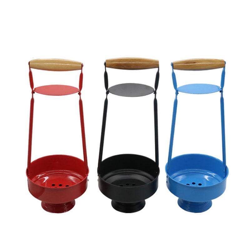 1PC Metal And Wood Hookah Charcoal Holder Basket Shisha Carbon Basket For Shisha Hookahs Chicha Narguile Smoking Accessories
