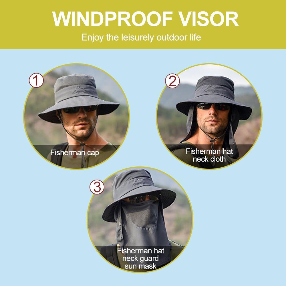 chapeu pescador portatil vestuario sol viseiras pratico duravel 05