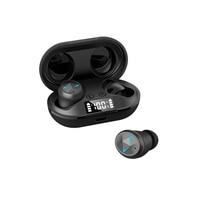 Tws bluetooth 5.0 fones de ouvido com microfone display led sem fio bluetooth fones à prova dwaterproof água cancelamento ruído fone 6