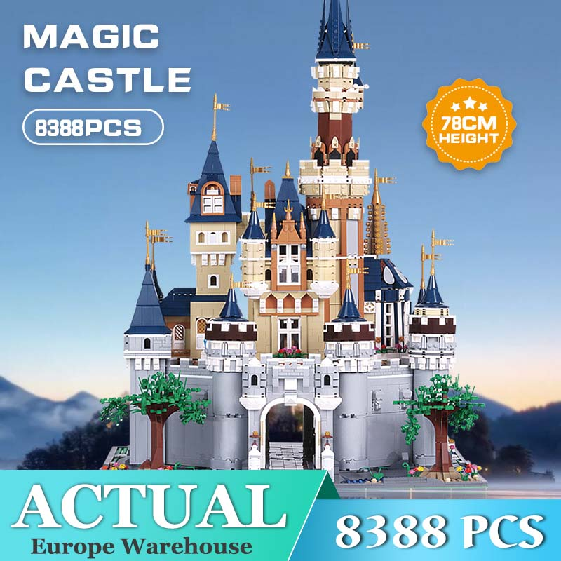 MOC Friend Girls Cinderella Princess Castle City set Building Block Bricks Kid DIY Toy Compatible 71040 Birthday Gifts image
