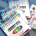 Morandi Gel Pens Ballpoint Kawaii Highlighter Set Multi Color Cute Ink Pen Office School Art Supplies Stationery Replace Refill