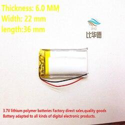 3.7V 602236 450mah bateria de lítio-ion bateria de polímero de qualidade de produtos de qualidade de autoridade de certificação CE FCC ROHS
