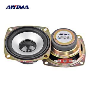 Aiyima 2 pçs 3 Polegada portátil alto-falante de áudio gama completa 4 ohm 5w alto-falante de neodímio de cinema em casa ktv profissional