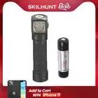 Nuovo Skilhunt H03 H03R H03F RC 1200 lumen freddo o bianco neutro USB magnetica di ricarica torcia elettrica + fascia + batteria - 1