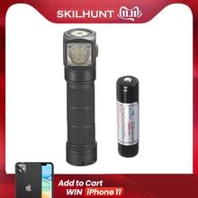مصباح يدوي جديد Skilhunt H03 H03R H03F RC 1200 لومن أبيض بارد أو محايد USB شحن مغناطيسي مصباح يدوي + عقال + بطارية