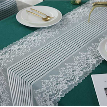 Elegant White Lace Table Runner Wide Retro Rectangular Table Cover Cabinet TV Crotchet Lace Decorative Tablecloth Tavolo