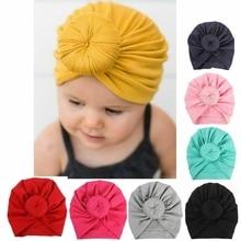 Random Color Baby Cotton Cloth Turban Toddler  Rabbit Hospital Hat Ear Kids Headbands Set Head Cap