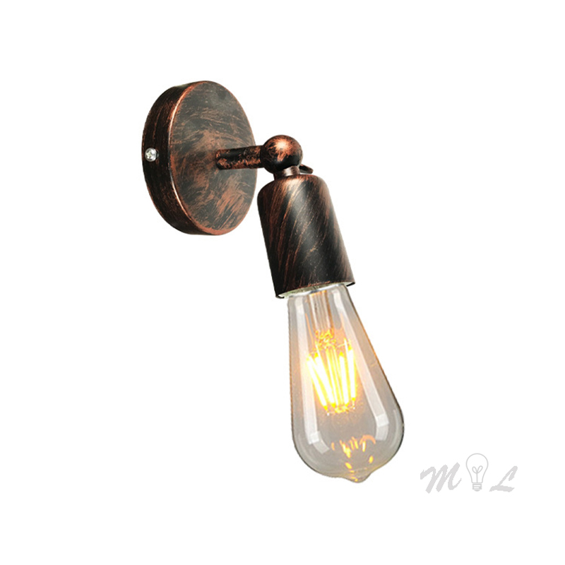 E27 Retro Wall Lamp Nordic Industrial Wall Light Fixtures Iron Vintage Wall Sconce for Living Room