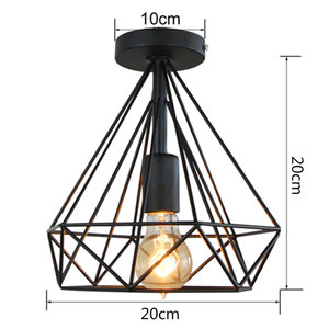 Image 3 - リビングルーム凹型天井照明 E27 北欧のミニマルパーラーシャンデリア夢のような HangLamp 寝室レトロ吊りランプ