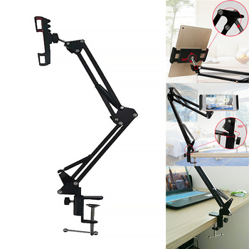 Universal Lazy Mobile Phone Holder Desktop video recording smartphone stand for ipad flexible long arms phone stand clip tripod