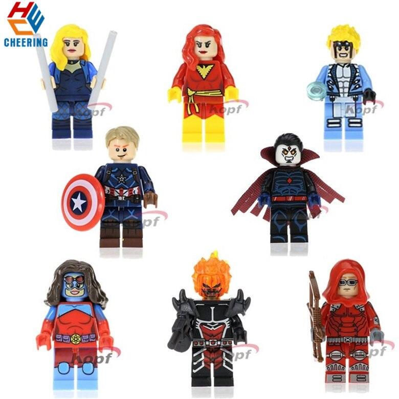 Single Sale Building Blocks Super Heroes X-men Dormammu Canary Dark Phoenix Red Arrow Dolls Bricks Figures For Kids Toys PG8059