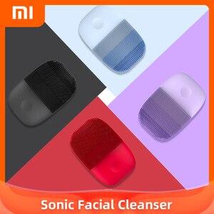 Inface щетка для очищения лица обновленная версия Mijia электрическая звуковая щетка для лица Глубокая очистка водонепроницаемый инструмент ...