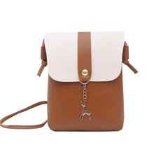 Hot Sale Women Small Flap Shoulder Bag Lady's Cute Solid Color Handbag Cross Body Bag for Cell Phone/Purse 9 colors Dropship