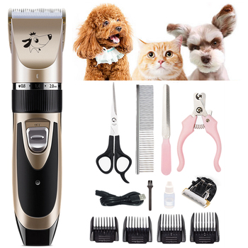 Rechargeable Low-noise Cat Dog Hair Trimmer Electrical Pet Hair Clipper Remover Cutter Grooming Pets Hair Cut Machine Kits