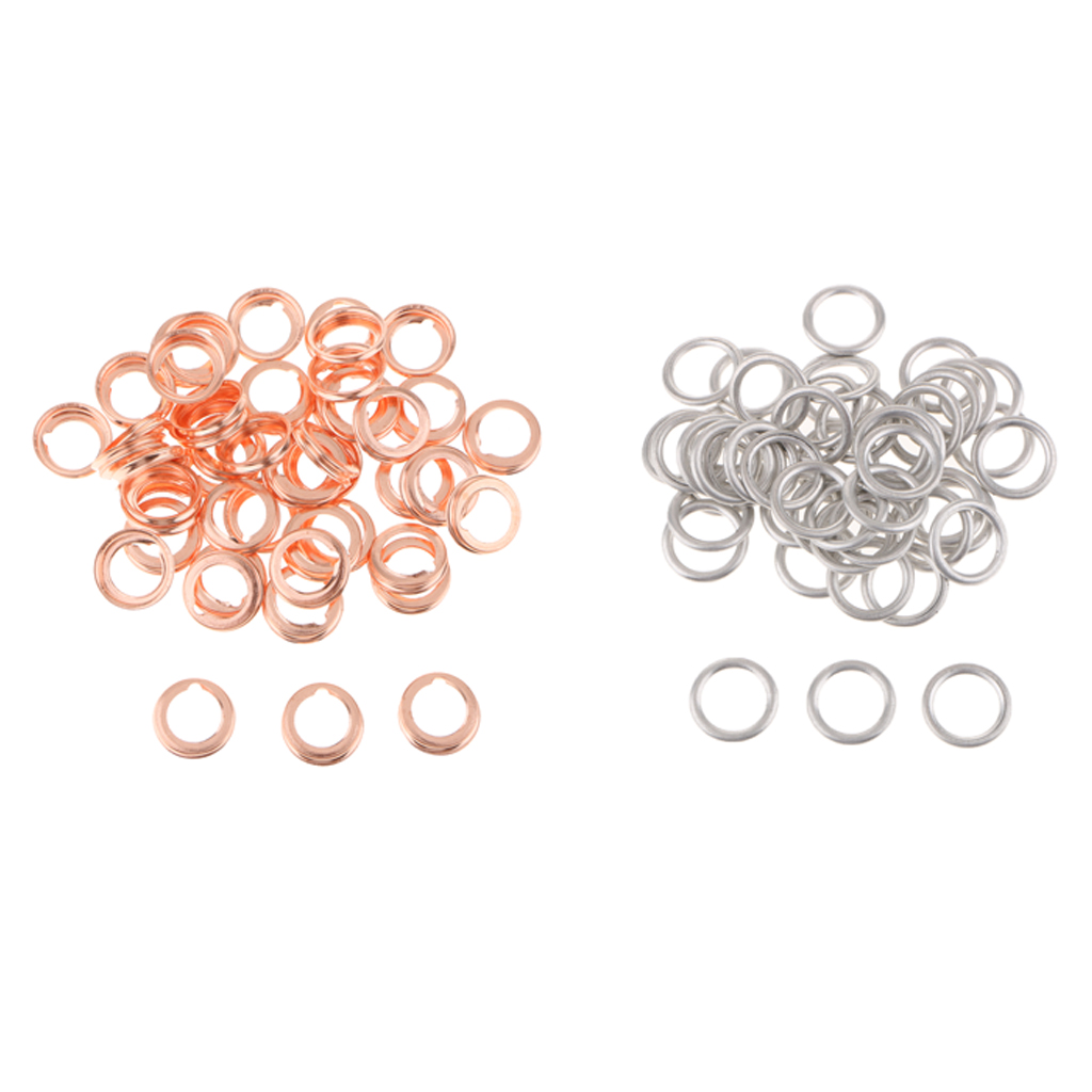 50Pcs 14mm Oil Drain Plug Crush Washer Gaskets for Audi S4 A4 Q5 VW Touareg