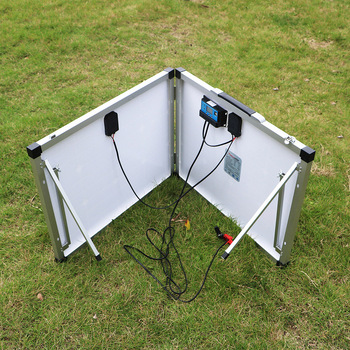 Dokio 100W (2Pcs x 50W) Foldable Solar Panel China pannello solare usb Controller Solar Battery Cell/Module/System Charger 4