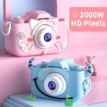 Cartoon Children Kids Camera Mini Educational Toys For Children Baby Gifts Birthday Gift HD Digital Dual Camera 1080P Video