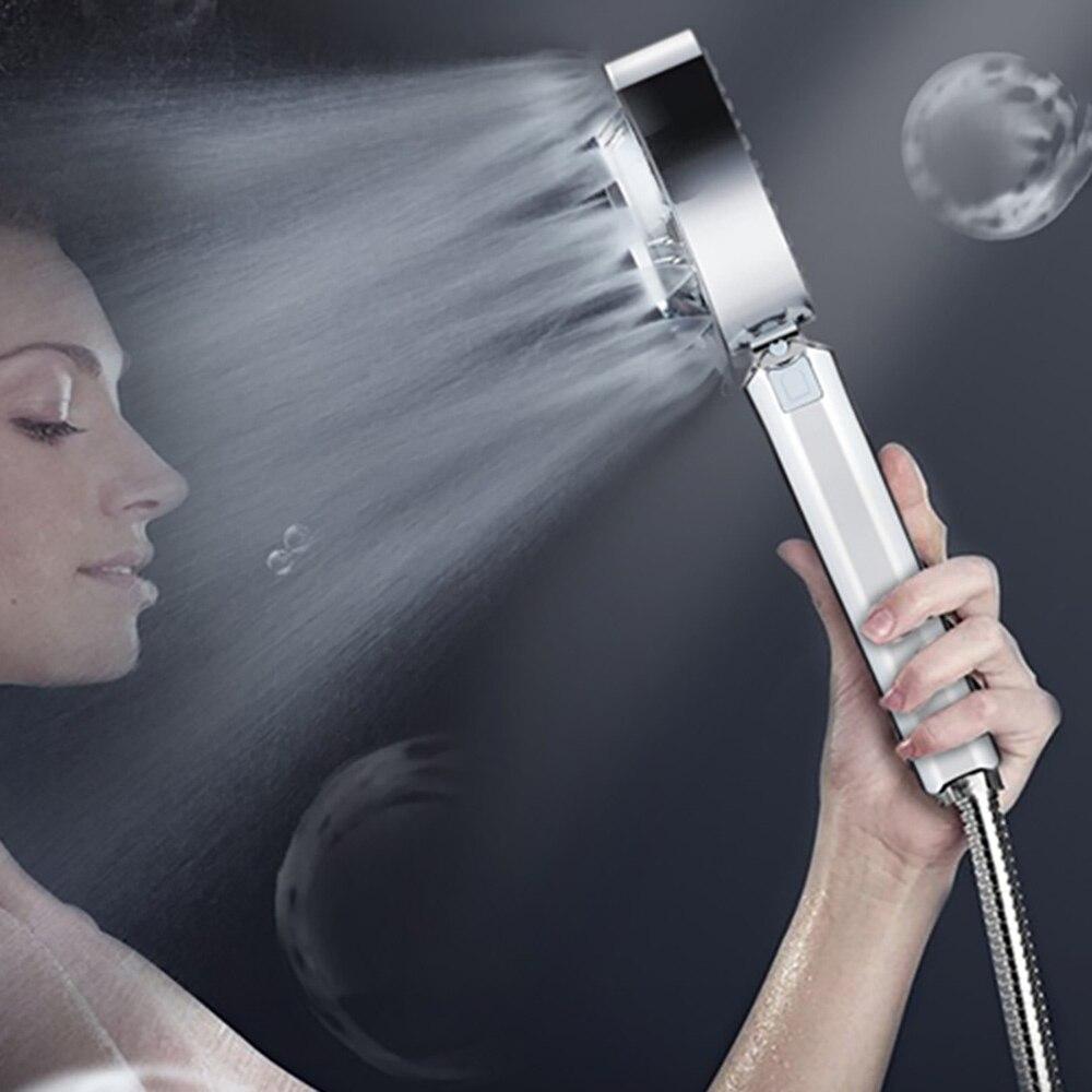 Душевая лейка под давлением, двусторонняя насадка для душа, бытовая, спа, насадка для душа в ванную комнату, водосберегающая насадка