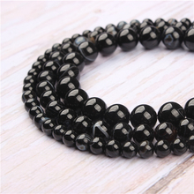 Black Striped Agate Natural Stone Beads For Jewelry Making Diy Bracelet Necklace 4/6/8/10/12 mm Wholesale Strand