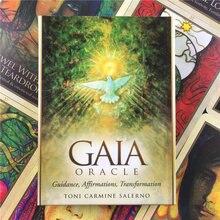 Versione inglese di alta qualità i giochi da tavolo dei tarocchi delle carte oracolo di Gaia che giocano alla guida PDF