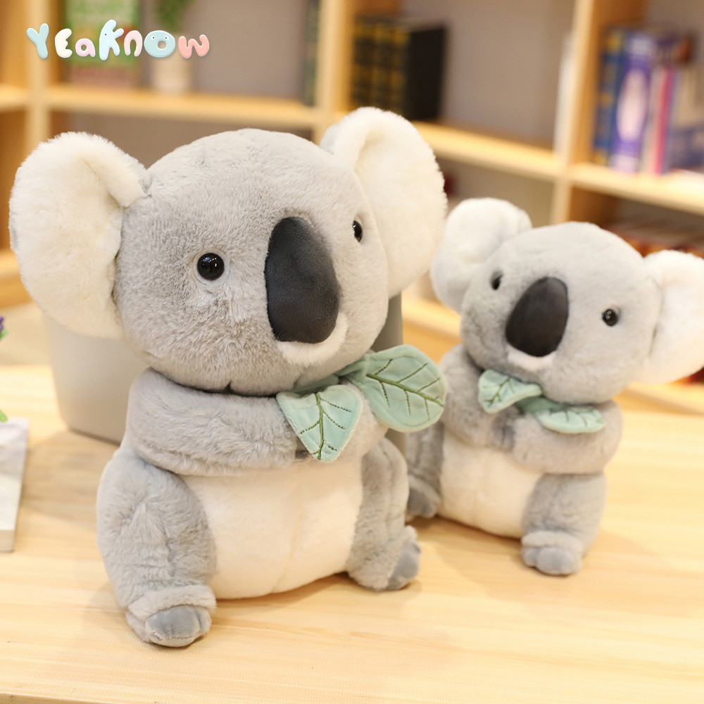 Australia Adorable Animal Koala Plush Toy Cute Grey Koala Stuffed Toy Child Present Gift Soft Doll