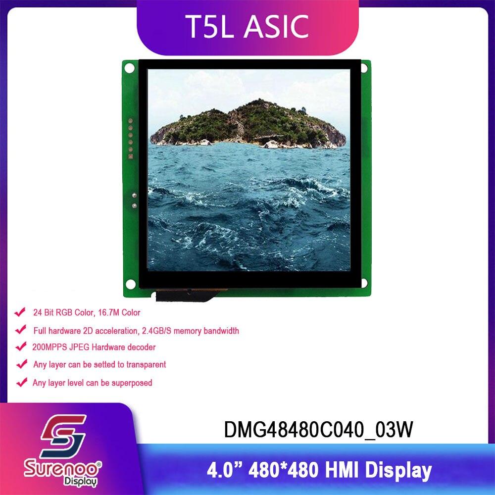 Dwin T5L HMI Intelligent Display, DMG48480C040_03W 4.0