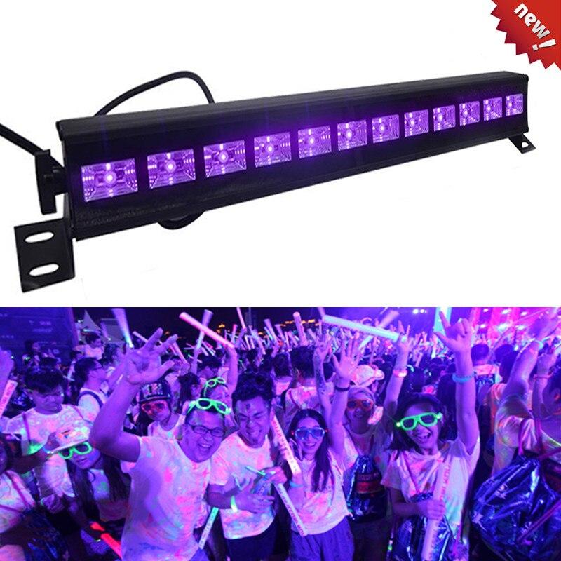 Christmas 12 LED Disco UV Violet Black Lights DJ 36W Par Lamp UV For Party Bar Lamp Laser Stage Wall Washer Spot Light Backlight