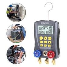 Digital Vacuum Pressure Meter Pressure Gauge Refrigeration Manifold Tester Meter Temperature Tester Digital Manifold Gauge Meter