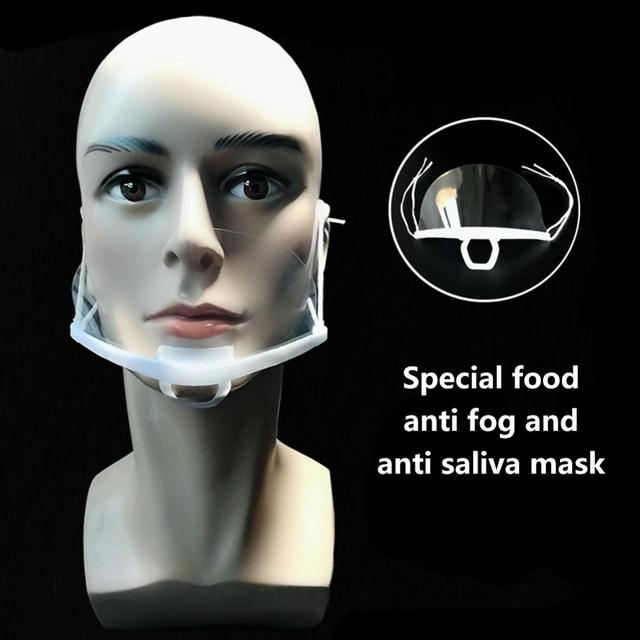 10Pcs Reusable Safety face protection Transparent Face Sheild Kitchen Catering Food Restaurant Saliva prevent Face Shield Cover