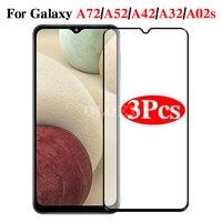 3Pcs Schutz Gehärtetem Glas Für Samsung Galaxy A72 A52 A42 A32 A12 A02s EINE 72 52 42 5G screen Protector Screenprotector Film