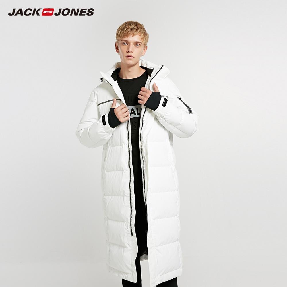 JackJones Мужская зимняя длинная куртка пуховик с капюшоном, парка, пальто, модная верхняя одежда для мужчин 218312516