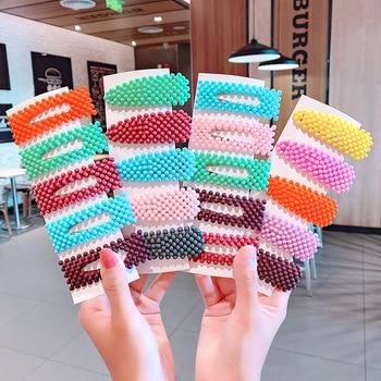 2020 New Women Girls Pearl Hairpin Side Clip Hair Jewelry Trendy Geometric Headwear Fashion Hair Accessories Barrettes Wholesale
