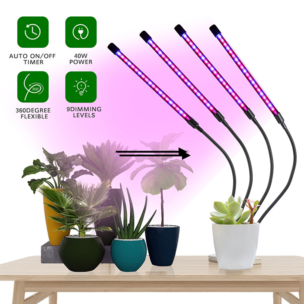 40W Plant Light Full Spectrum LED Grow Light Timming Dimmable Growing Lamp Indoor Greenhouse Vegetable Flower Phyto Lamp(China)
