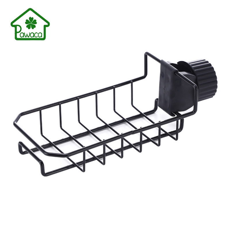 Kitchen Faucet Drain Rack Sink Storage Shelf Rack Soap Sponge Detergent Storage Holder Faucet Drain Rack Kitchen Sink Accessory