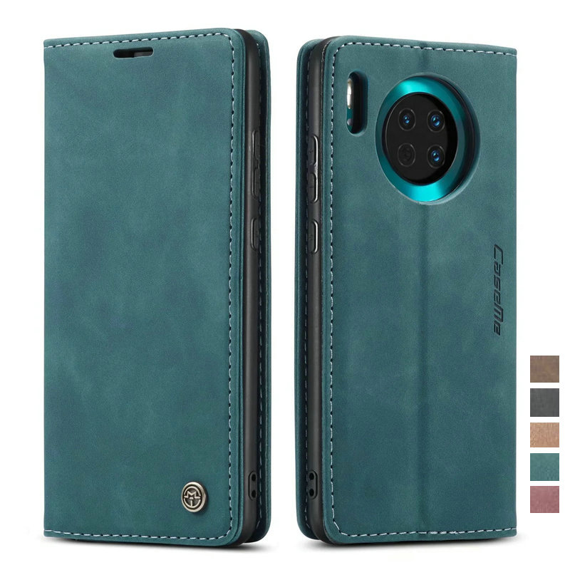 Huawei Mate 30 Case Luxury Leather Wallet Case For Huawei Mate 30 Retro Business Flip Cover Mate30 Protective Shell Card Slots
