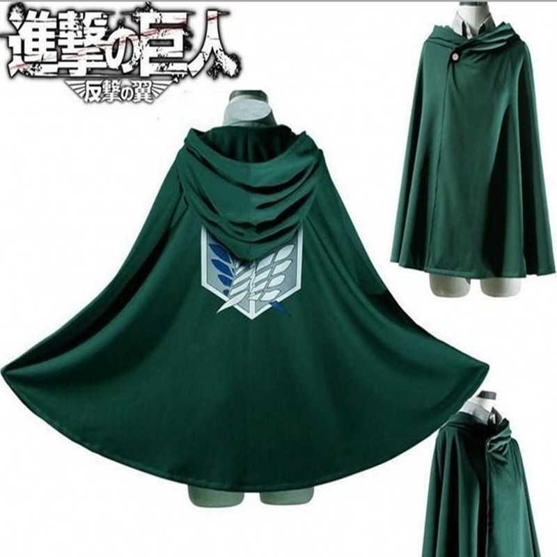 Giapponese Con Cappuccio Attacco su Titano Mantello Shingeki no Kyojin Scouting Legione Cosplay del Costume Del anime di cosplay verde Del Capo abbigliamento uomo