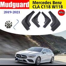 Przód tył 4 sztuk błotniki dla NWE Mercedes Benz CLA W118 C118 błotniki błotniki klapa błotna straż Splash akcesoria samochodowe 2019 2021
