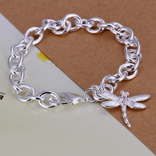 Silver color exquisite dragonfly bracelet fashion personality joker temperament charm silver jewelry birthday gift H282