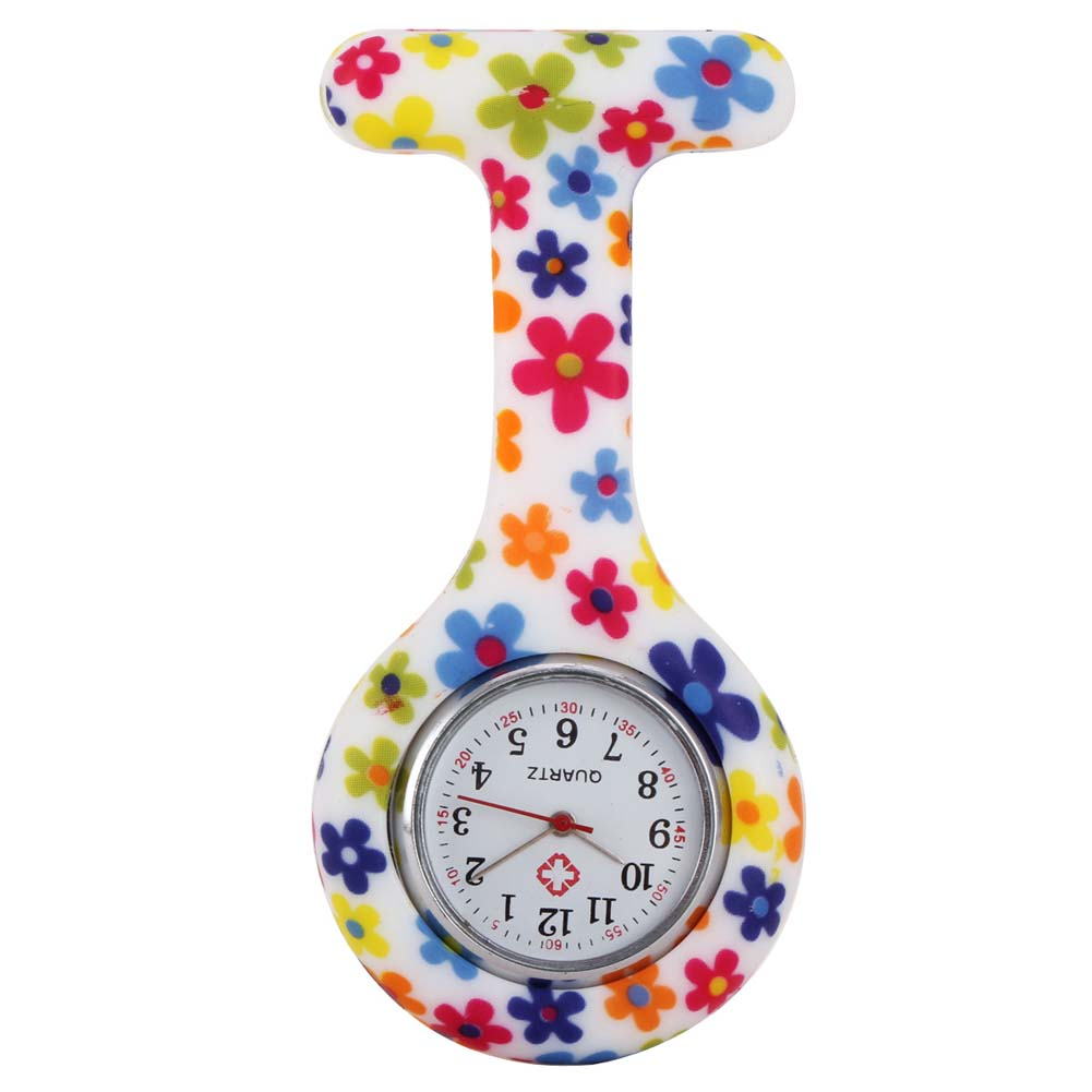 Часы для медсестер печатных Стиль клип на Fob Подвеска для броши карман висит врач-Медсестра Медицинские автоматические механические часы HSJ88 - Цвет: 5