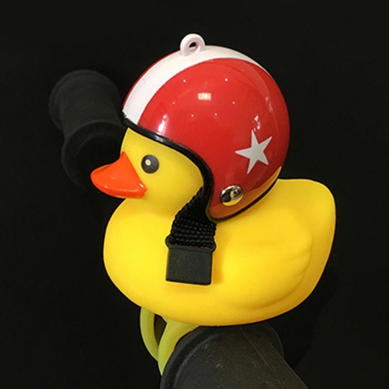 Detachable Bell-Accessories Duck Bicycle-Head-Light Road-Bike Yellow with Outdoor Little title=