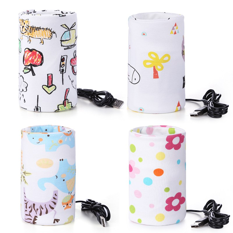 USB Charging Baby Bottle Heated Cover Newborn Baby Bottle Feeding Insulated Bag Portable Infant Milk Feeding Warmer Nursing Care