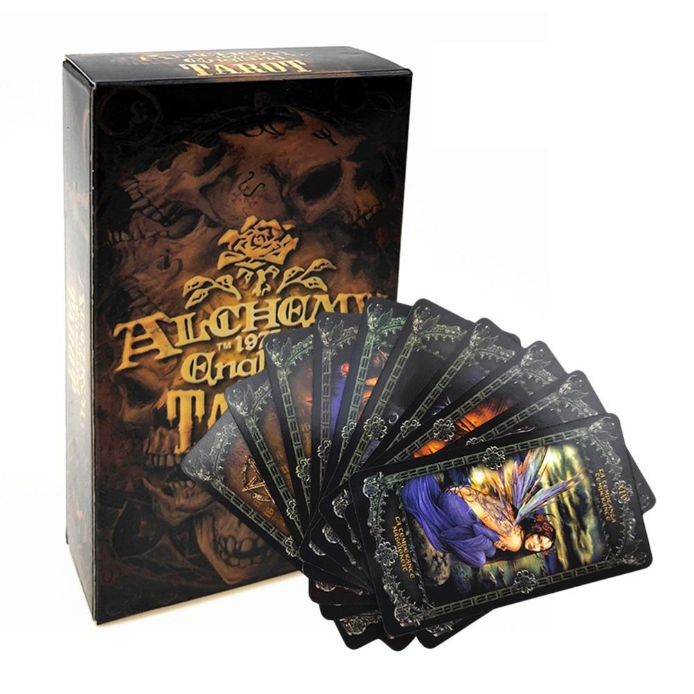 78PCS Party Board Games Tarot Cards Deck Fantasy Gothic Oracle Tarot Card For Alchemy 1977 England Playing Card Game