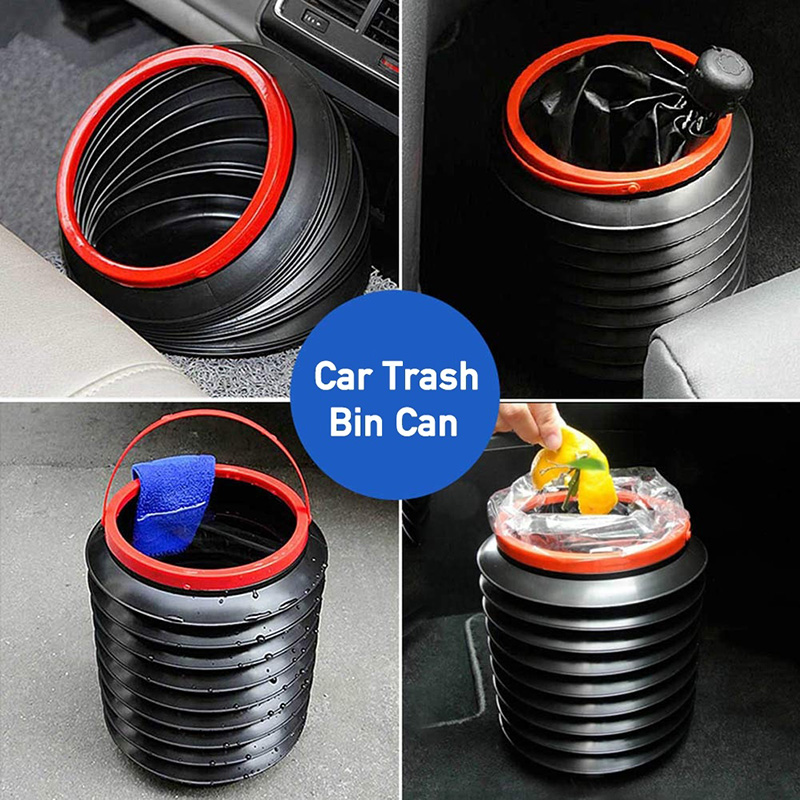 Car Trash Bin Multifunctional Retractable Car Storage Bin Portable Outdoor Fishing Bucket Water Bucket Folding Car Trash Can
