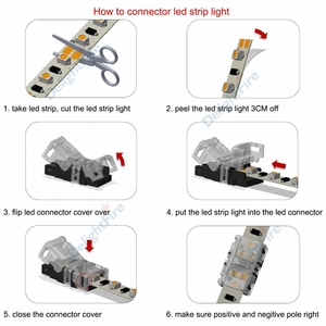 Stücke 2pin 3pin 4pin 5pin 6pin LED Streifen Stecker für RGB RGBW RGBWW 3528 5050 LED Streifen Licht Draht Verbindung terminal Splice
