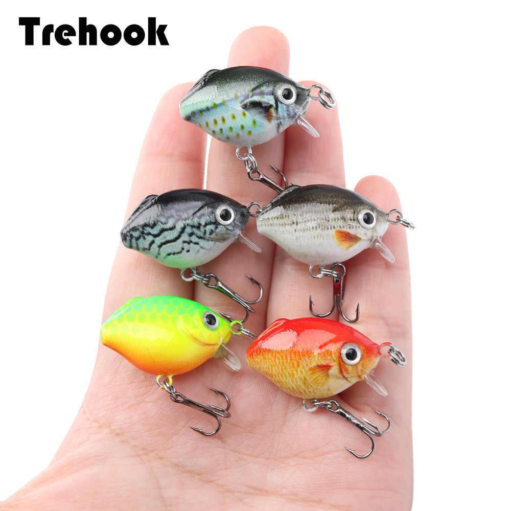 TREHOOK 5 sztuk królik ryby Mini Crankbaits Fishing zestaw przynęt Wobblers dla wędkarzy japońska twarda przynęta korba Bait Pike Wobblers